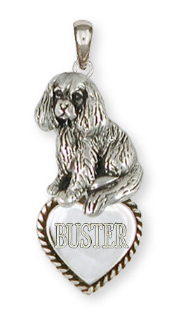 Cavalier King Charles Spaniel Personalized Pendant Jewelry Handmade Sterling Silver CV12-TP