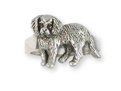 Cavalier King Charles Spaniel Ring Jewelry Handmade Sterling Silver CV13-R