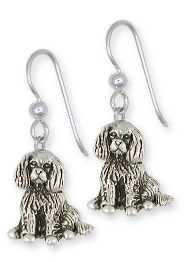 Cavalier King Charles Spaniel French Wire Earrings Jewelry Handmade Sterling Silver CV14-E