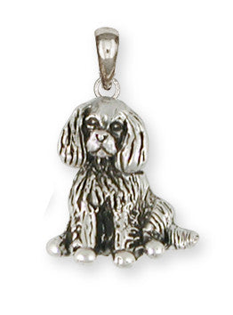 Cavalier King Charles Spaniel Pendant Jewelry Handmade Sterling Silver CV14-P