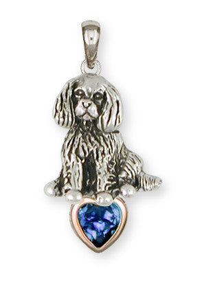 Cavalier King Charles Spaniel Pendant Jewelry Handmade Sterling Silver CV14-SP