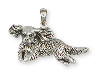 Cavalier King Charles Spaniel Pendant Jewelry Handmade Sterling Silver CV15-P