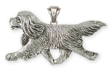 Cavalier King Charles Spaniel Pendant Jewelry Handmade Sterling Silver CV20-P