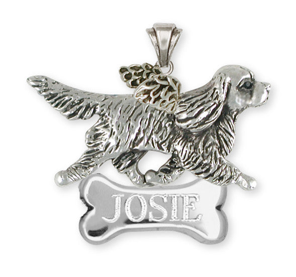 Cavalier King Charles Spaniel Angel  Pendant Jewelry Handmade Sterling Silver CV22-ANP
