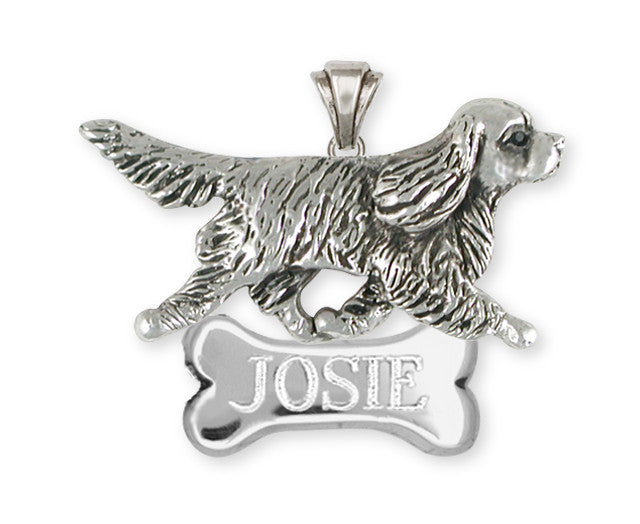 Cavalier King Charles Spaniel Personalized Pendant Jewelry Handmade Sterling Silver CV22-NP
