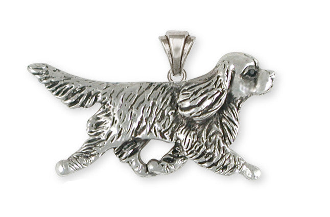 Cavalier King Charles Spaniel Pendant Jewelry Handmade Sterling Silver CV22-P