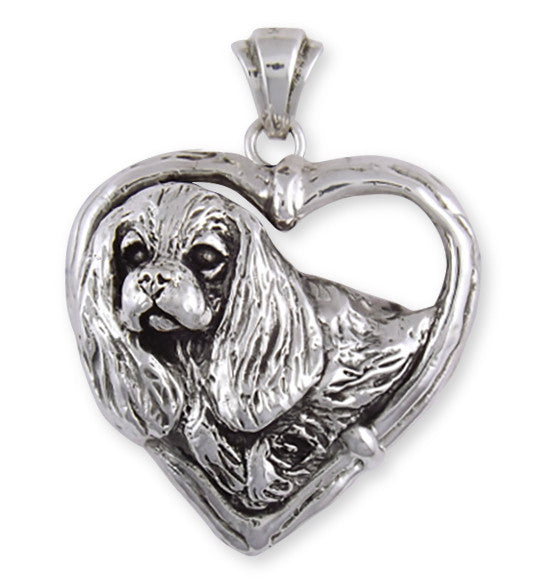 Cavalier King Charles Spaniel Pendant Jewelry Handmade Sterling Silver CV25-P
