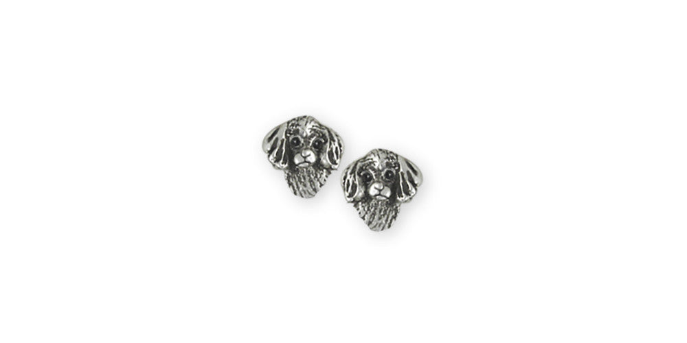 Cavalier King Charles Spaniel Puppy Charms Cavalier King Charles Spaniel Puppy Earrings Sterling Silver Dog Jewelry Cavalier King Charles Spaniel Puppy jewelry
