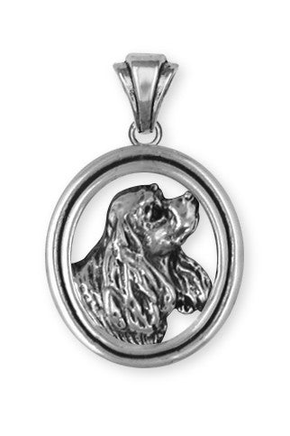 Cavalier King Charles Spaniel Pendant Jewelry Handmade Sterling Silver CV4-P