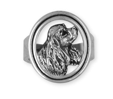Cavalier King Charles Spaniel Ring Jewelry Handmade Sterling Silver CV4-R