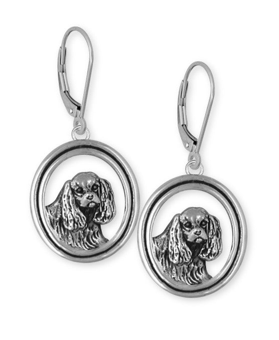 Cavalier King Charles Spaniel Earrings Jewelry Handmade Sterling Silver CV5-E