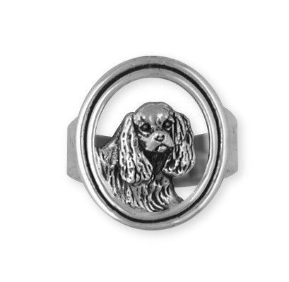 Cavalier King Charles Spaniel Ring Jewelry Handmade Sterling Silver CV5-R