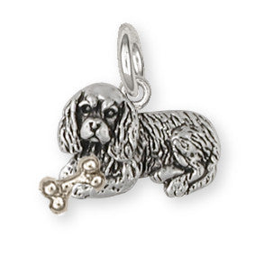 Cavalier King Charles Spaniel Charm Jewelry Handmade Sterling Silver CV6-NP