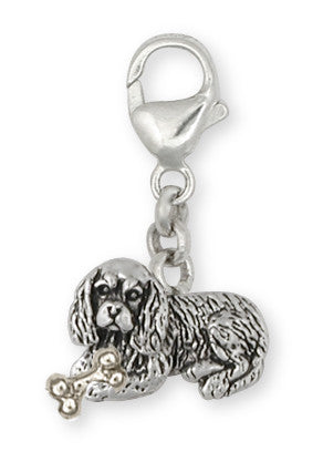 Cavalier King Charles Spaniel Zipper Pull Jewelry Handmade Sterling Silver CV6-NZP