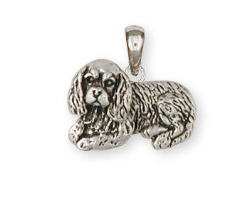 Cavalier King Charles Spaniel Pendant Jewelry Handmade Sterling Silver CV6-P