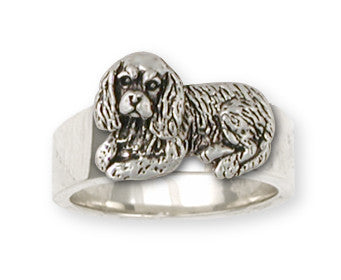 Cavalier King Charles Spaniel Ring Jewelry Handmade Sterling Silver CV6-R