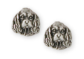 Cavalier King Charles Spaniel Earrings Jewelry Handmade Sterling Silver CV8-E