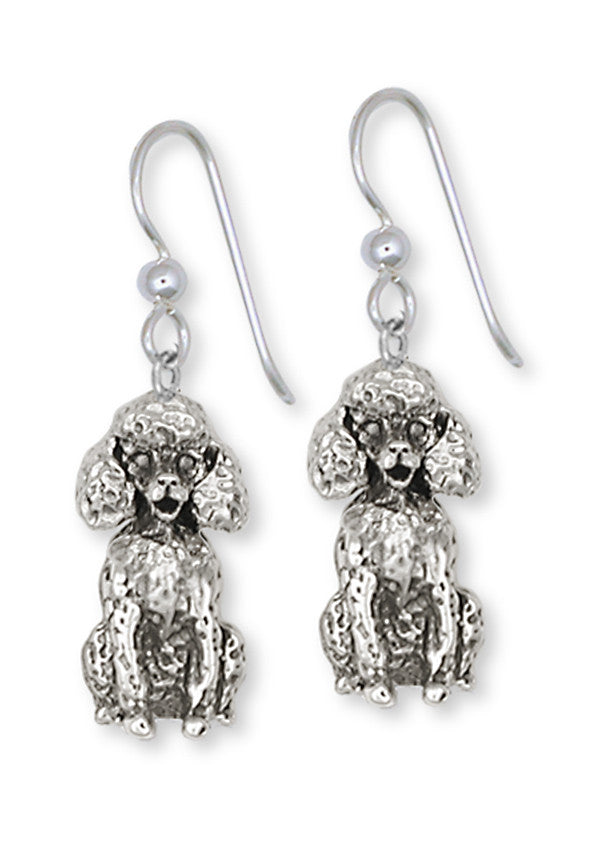 Poodle Charms Poodle Earrings Handmade Sterling Silver Dog Jewelry Poodle jewelry
