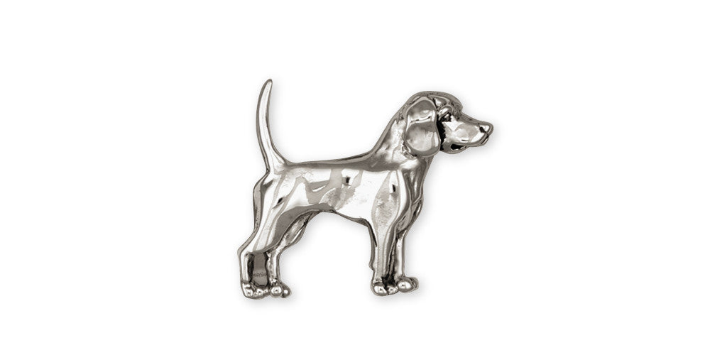 Beagle Charms Beagle Brooch Pin Sterling Silver Dog Jewelry Beagle jewelry