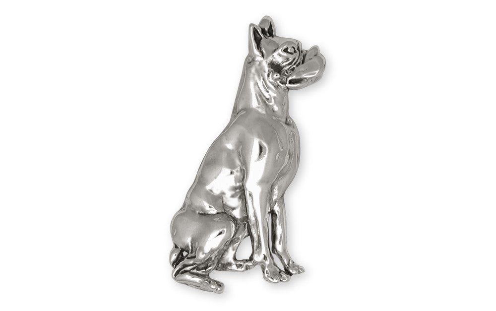 Boxer Charms Boxer Brooch Pin Sterling Silver Dog Jewelry Boxer jewelry