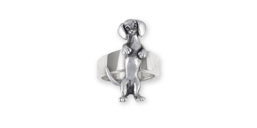 Dachshund Charms Dachshund Ring Sterling Silver Dog Jewelry Dachshund jewelry