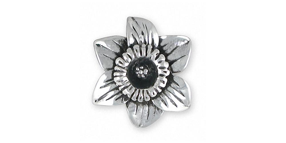 Daffodil Charms Daffodil Pendant Sterling Silver Flower Jewelry Daffodil jewelry