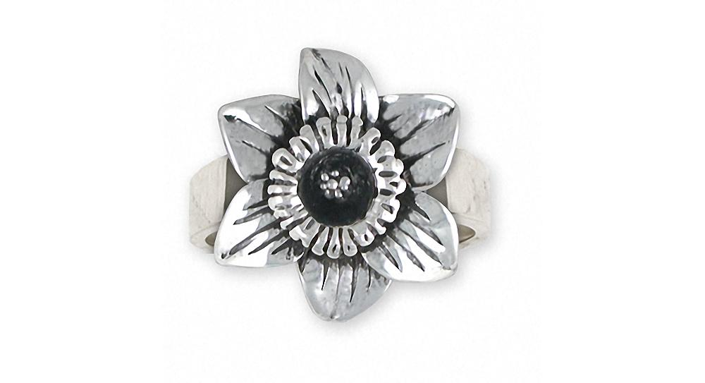 Daffodil Charms Daffodil Ring Sterling Silver Flower Jewelry Daffodil jewelry