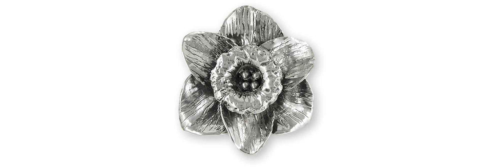 Daffodil Charms Daffodil Brooch Pin Sterling Silver Daffodil Flower Jewelry Daffodil jewelry