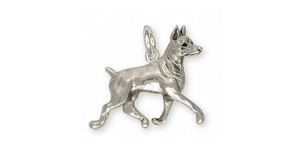 Doberman Pincher Charms Doberman Pincher Charm Sterling Silver Dog Jewelry Doberman Pincher jewelry