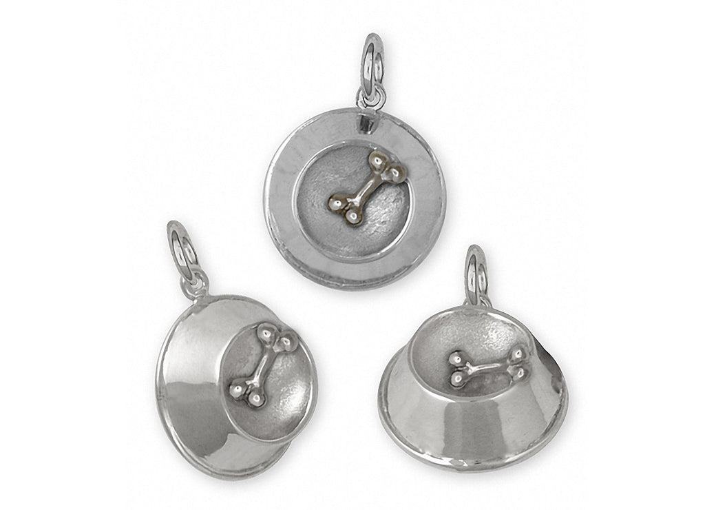 Dog Bowl Charms Dog Bowl Charm Sterling Silver Dog Jewelry Dog Bowl jewelry