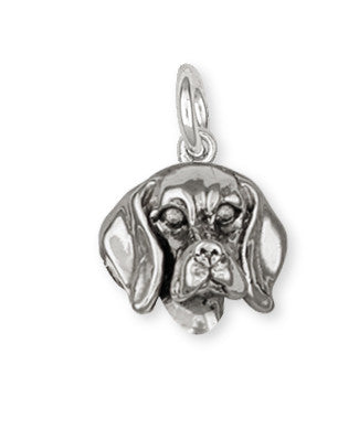 Beagle Dog Charm Jewelry Handmade Sterling Silver  DG10-C