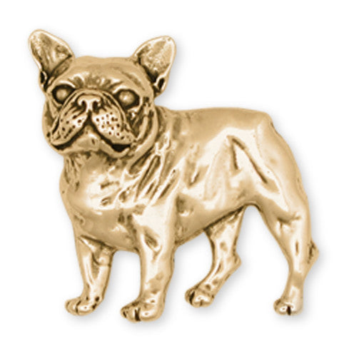 French Bulldog Brooch Pin 14k Yellow Gold Vermeil Dog Jewelry DG11-BRVM