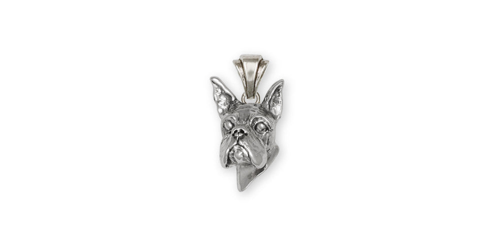 Boxer Charms Boxer Pendant Sterling Silver Dog Jewelry Boxer jewelry