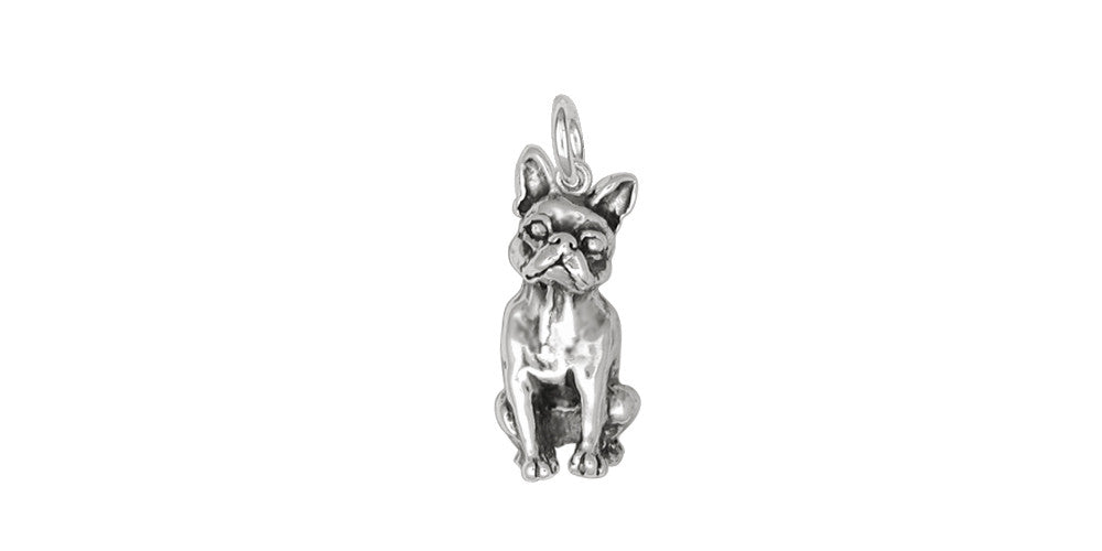Boston Terrier Charms Boston Terrier Charm Sterling Silver Dog Jewelry Boston Terrier jewelry