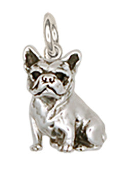 French Bulldog Charm Handmade Sterling Silver Dog Jewelry DO9-C