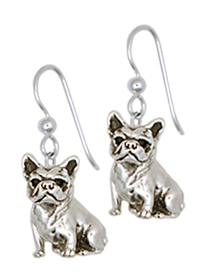 French Bulldog Earrings Handmade Sterling Silver Dog Jewelry DO9-E