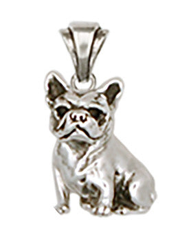 French Bulldog Pendant Handmade Sterling Silver Dog Jewelry DO9-P