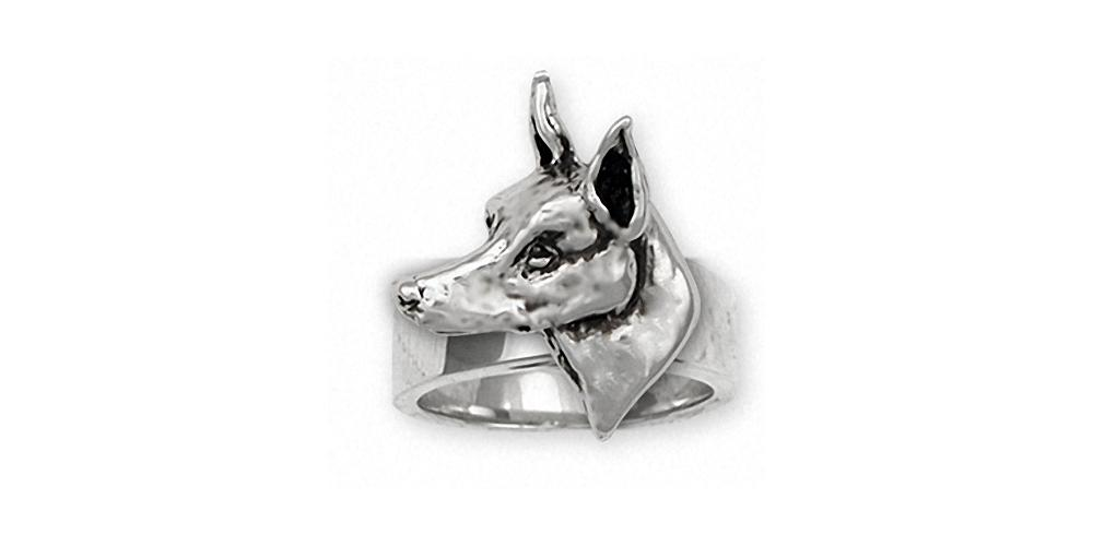 Doberman Pincher Charms Doberman Pincher Ring Sterling Silver Dog Jewelry Doberman Pincher jewelry