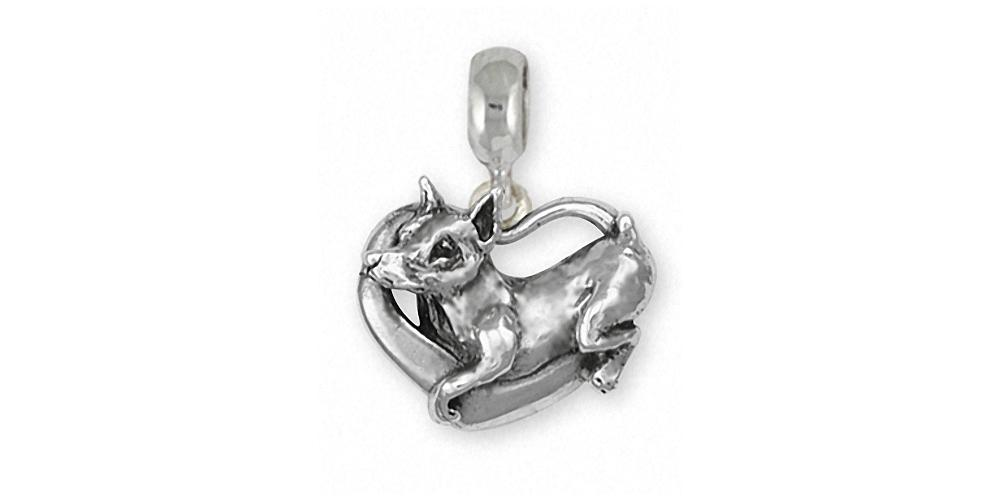 Doberman Pincher Charms Doberman Pincher Charm Slide Sterling Silver Dog Jewelry Doberman Pincher jewelry