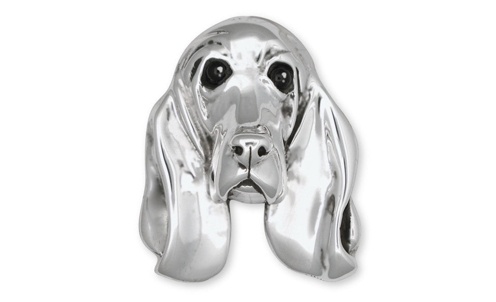 Basset Hound Charms Basset Hound Brooch Pin Sterling Silver Dog Jewelry Basset Hound jewelry