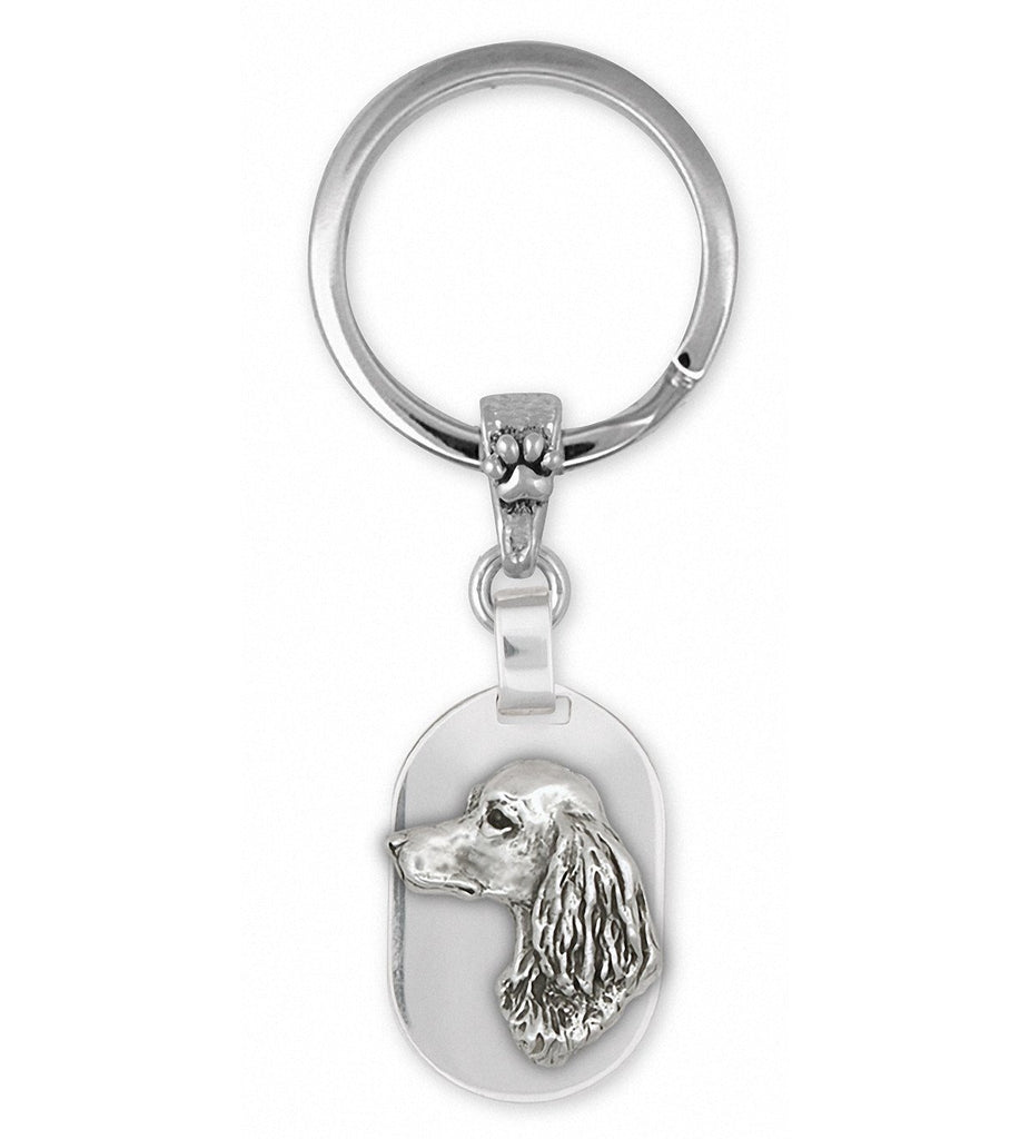 Long Hair Dachshund Charms Long Hair Dachshund Key Ring Sterling Silver Dog Jewelry Long Hair Dachshund jewelry