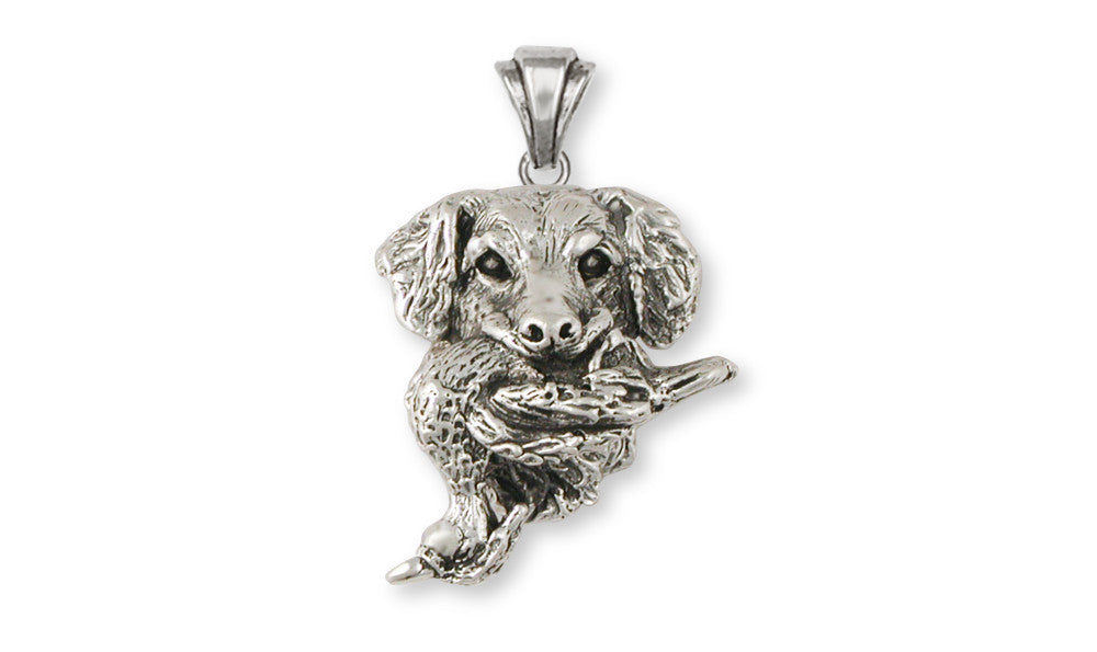 Golden Retriever And Duck Charms Golden Retriever And Duck Pendant Sterling Silver Dog Jewelry Golden Retriever And Duck jewelry