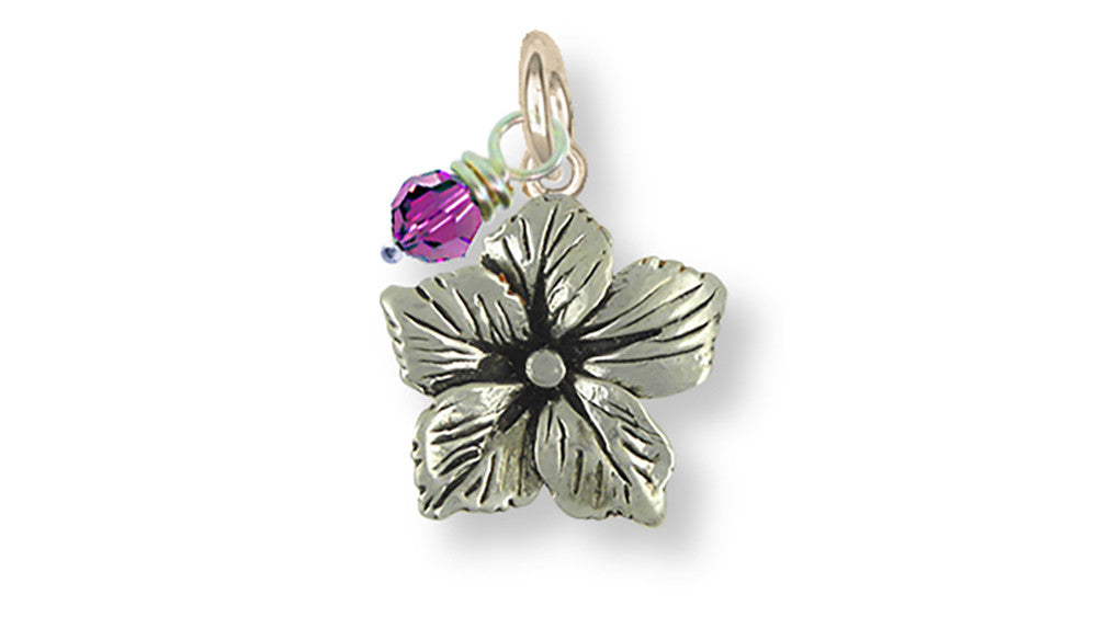 Drummond Phlox Charms Drummond Phlox Charm Sterling Silver Flower Jewelry Drummond Phlox jewelry