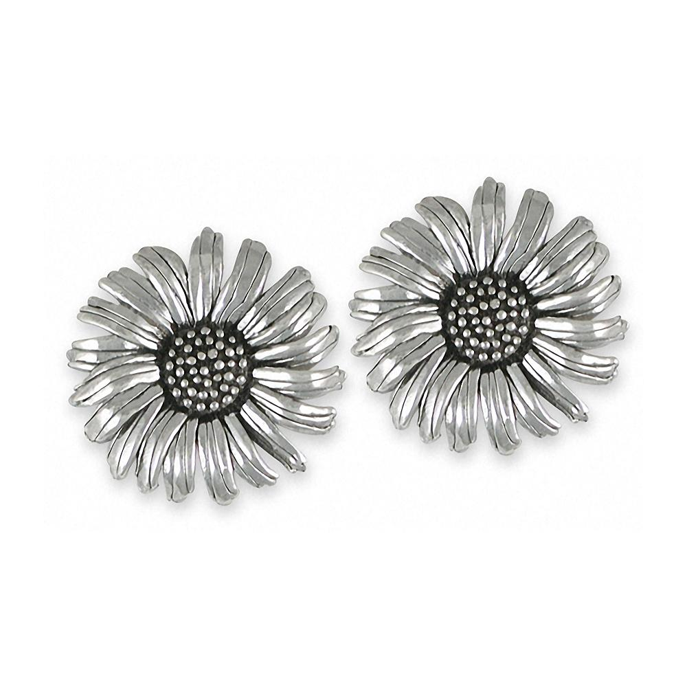Daisy Charms Daisy Cufflinks Sterling Silver Flower Jewelry Daisy jewelry