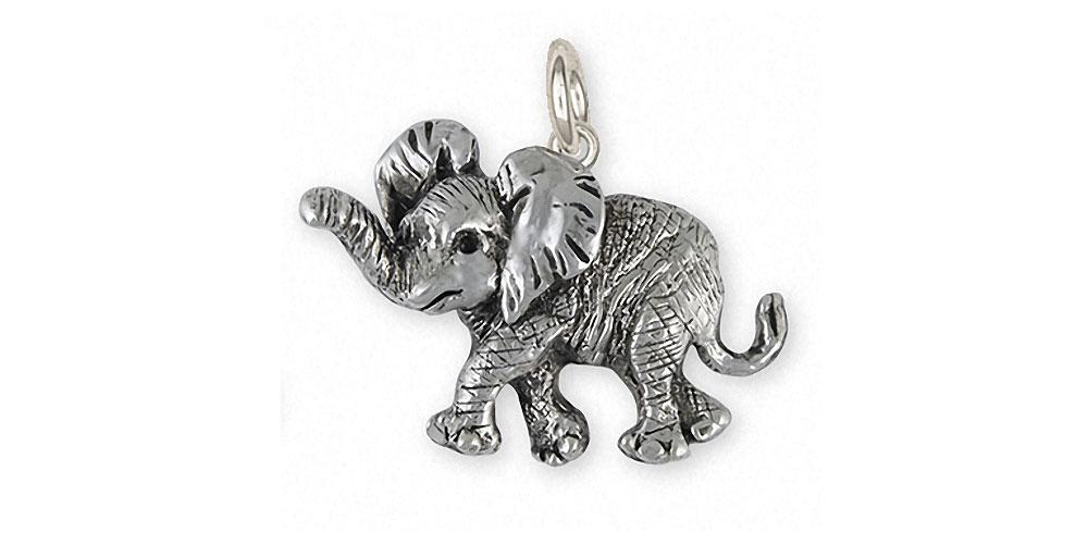 Elephant charm sterling silver elephant wildlife jewelry esquivel elephant charms elephant charm sterling silver wildlife jewelry elephant jewelry aloadofball Image collections