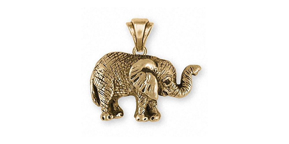 Elephant pendant 14k gold elephant wildlife jewelry esquivel and elephant charms elephant pendant 14k gold wildlife jewelry elephant jewelry aloadofball Gallery