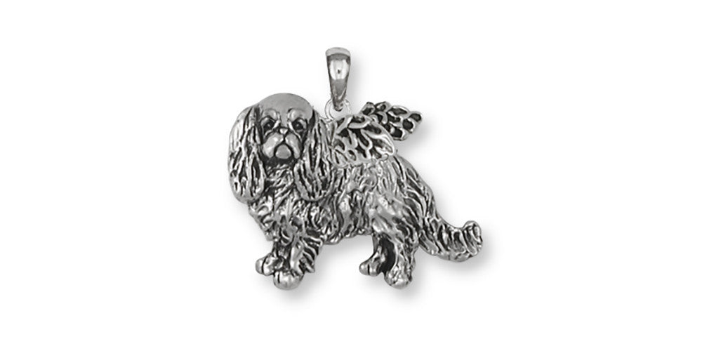 English Toy Spaniel Angel Charms English Toy Spaniel Angel Pendant Sterling Silver Dog Jewelry English Toy Spaniel Angel jewelry