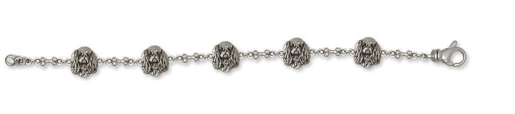 English Toy Spaniel Charms English Toy Spaniel Bracelet Sterling Silver Dog Jewelry English Toy Spaniel jewelry