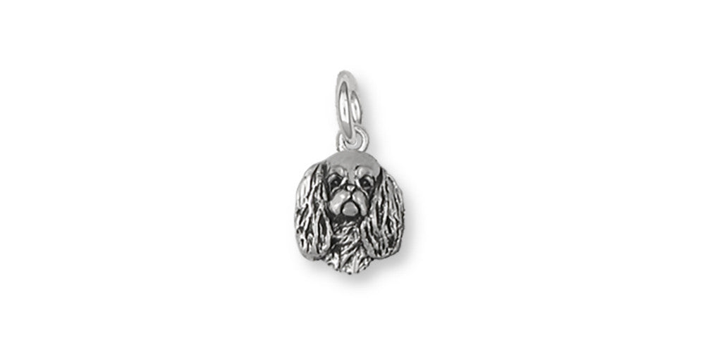 English Toy Spaniel Charms English Toy Spaniel Charm Sterling Silver Dog Jewelry English Toy Spaniel jewelry