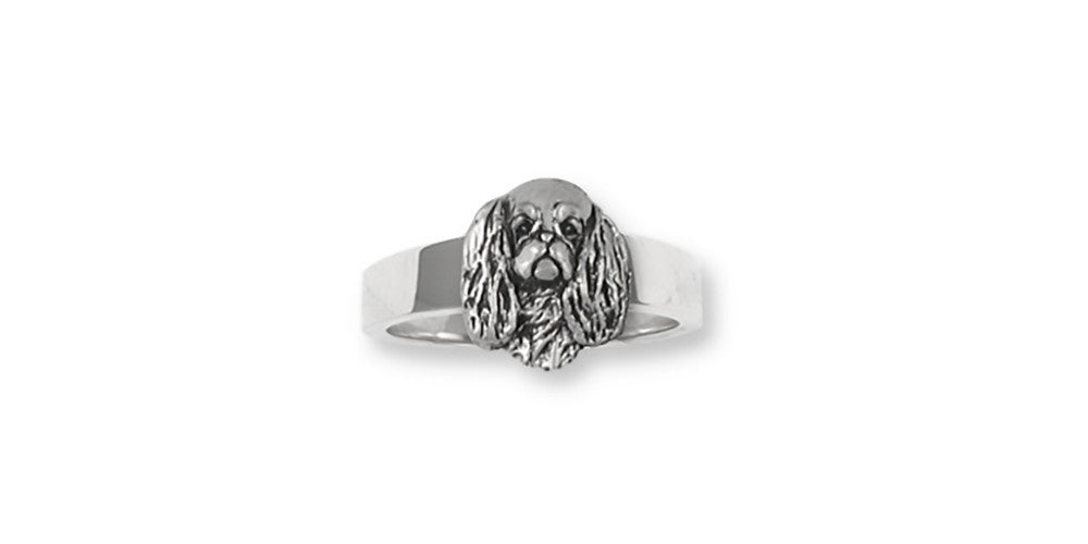 English Toy Spaniel Charms English Toy Spaniel Ring Sterling Silver Dog Jewelry English Toy Spaniel jewelry